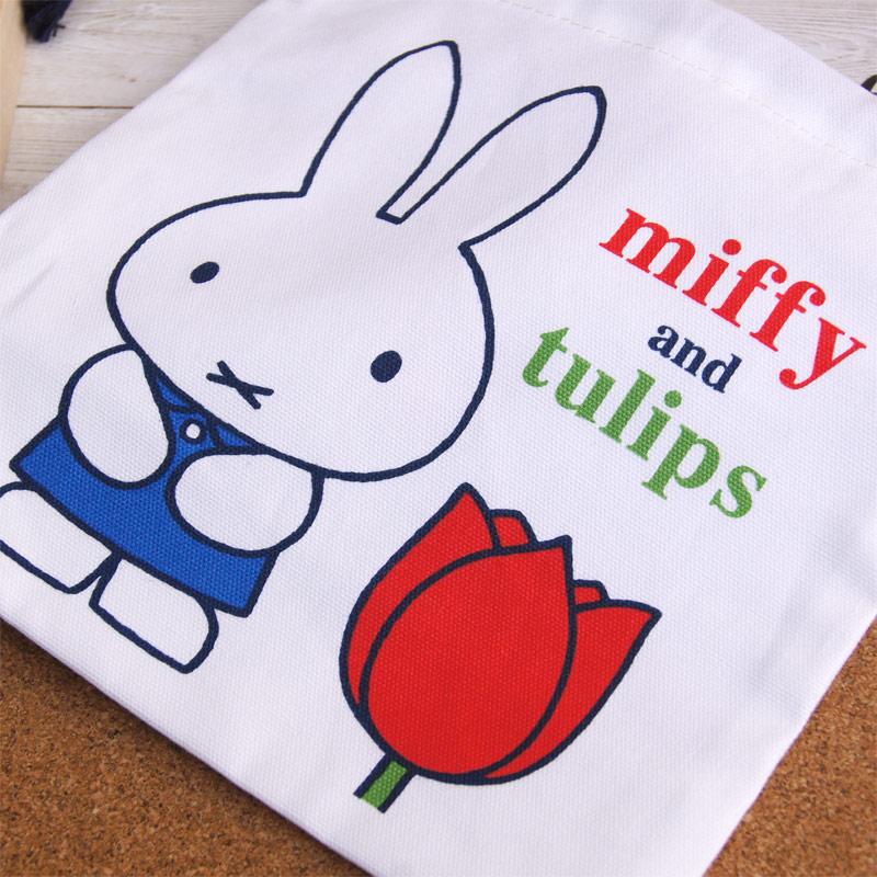 [MF650B] 巾着袋B ミッフィー チューリップ [miffy][Dick Bruna]