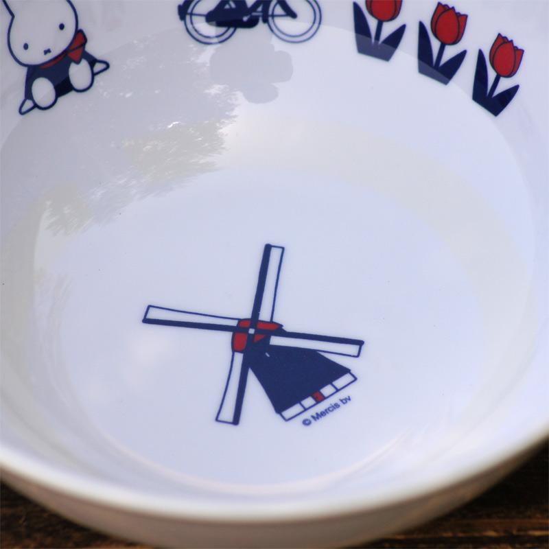 [CM-51D] ミッフィー メラミン子供食器 ラーメン鉢 65thダッチモチーフ [miffy][Dick Bruna]