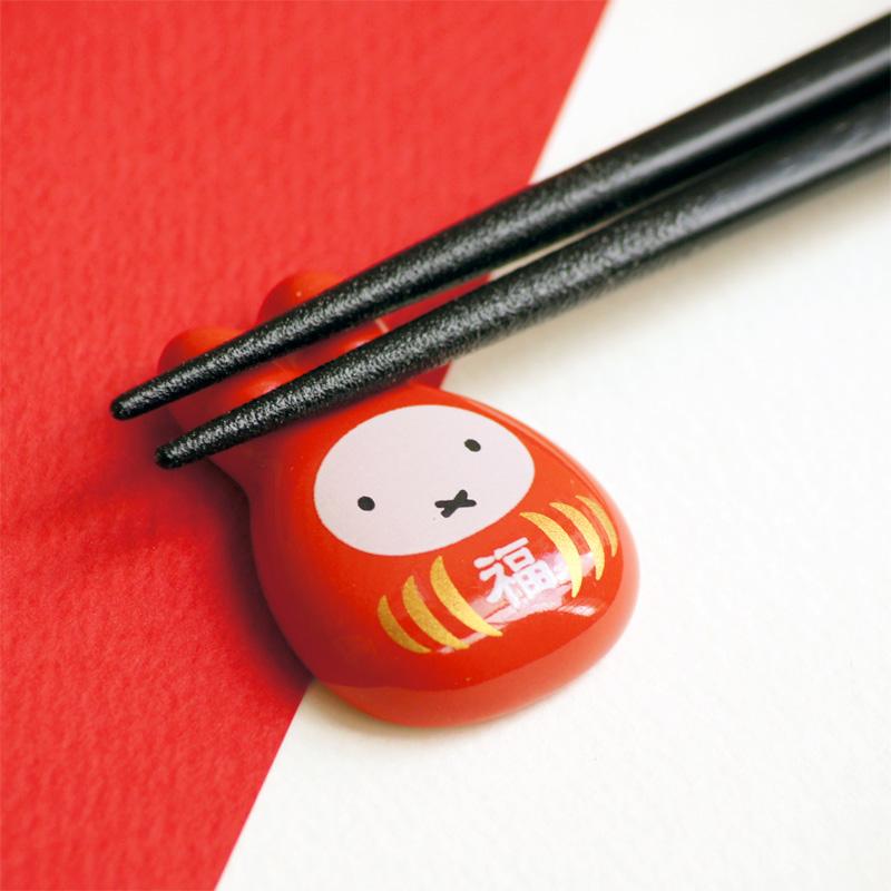 [209671] ミッフィー福だるま 磁器箸置き 【赤色1個単品】 [miffy][Dick Bruna]