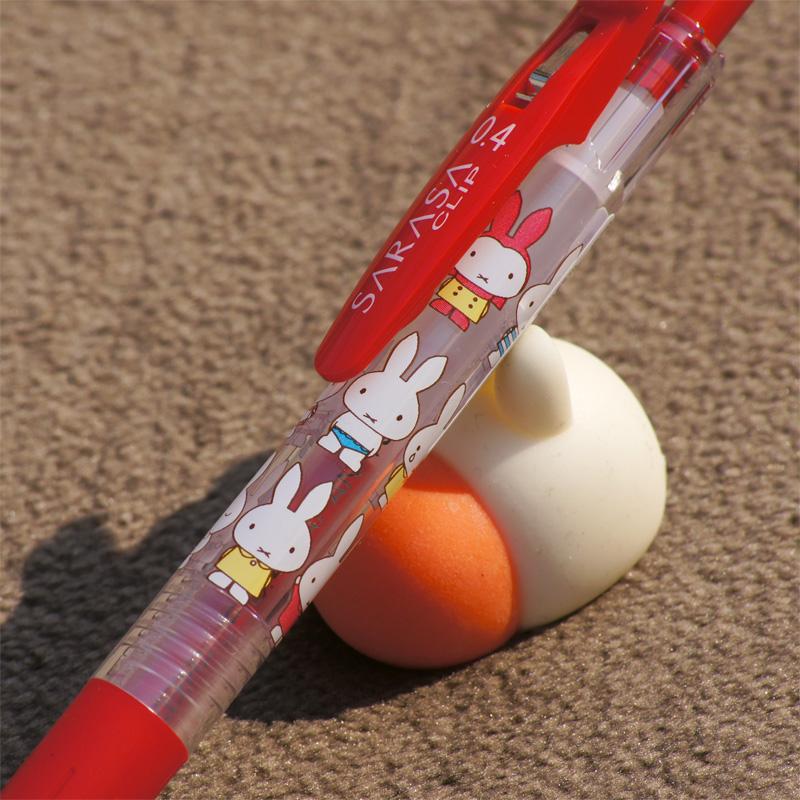 [EB199RD] ミッフィー×サラサクリップ ボールペン 0.4mm レッド [miffy][Dick Bruna][SARASA CLIP]