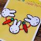 [D02Y1506] シール・アイロン両用刺繍ワッペン ミッフィーキャロット ラインピース [miffy][Dick Bruna]