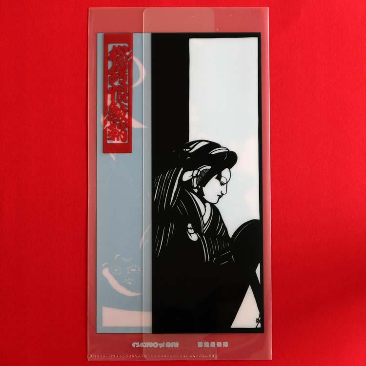 文楽『桜鍔恨鮫鞘』  クリアファイルのチケットケース  ■杉江みどり