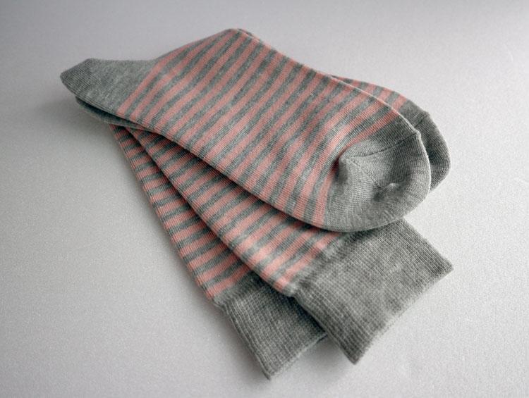 「ボーダーベーシックソックス」炭ソックスTan-Tan  【炭の靴下】 ■ SUMI yarn®