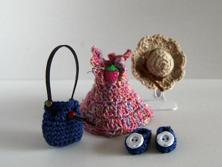 ピッケポッケプランタ ドールのお洋服と小物たち (4点セットB) ■かどぴょんマーケット
