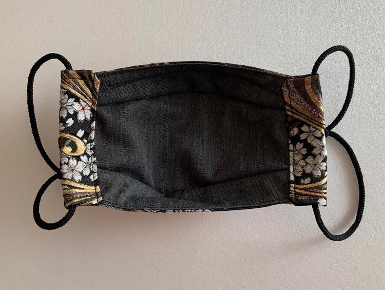 おしゃれマスク 西陣織金襴H 立体布マスク ノーズワイヤー入り (ハンドメイド) ■かどぴょんマーケット