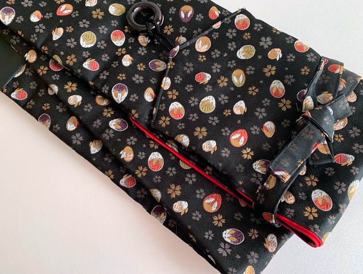 「うさぎ」 西陣織金襴 竹刀袋(3本入り) ネームタグ付き [剣道具] ■小室久美子
