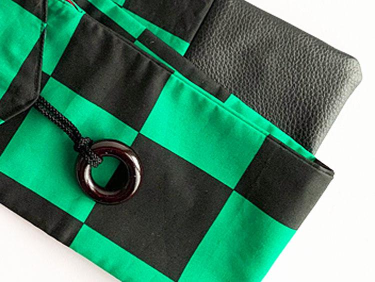 低学年用 剣道具竹刀袋「市松模様」(2本入り)■小室久美子