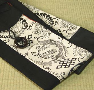 剣道 竹刀袋 剣道具竹刀袋(3本入り)■ 禅■(合皮・黒)  小室久美子