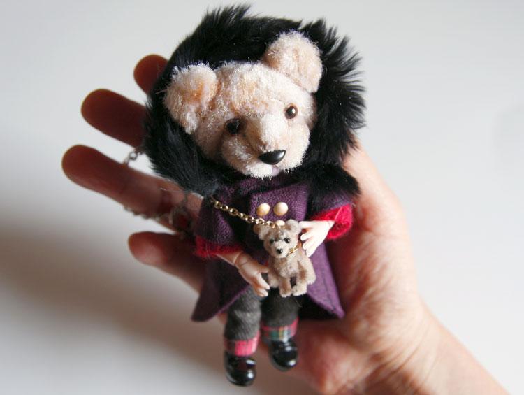 ピッケポッケプランタのクマさんドール (ドールチャーム) ■ikeda popo