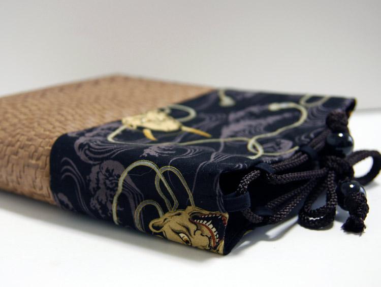 男性用巾着袋 メンズ 信玄袋(合切袋)【般若】 ■小室久美子