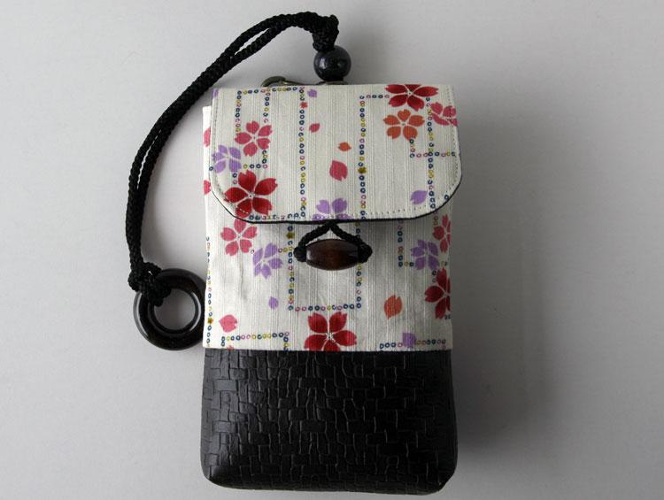 ヒップバッグ 巾着 腰巾着ワイド 【吉野】 For iphone Plus ■小室久美子