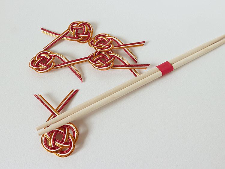 祝箸 祝い箸・箸紙・水引箸置き 5組 ■三春
