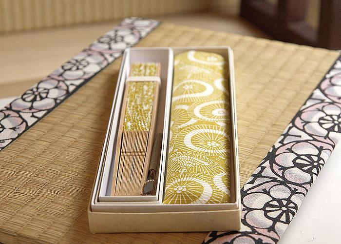 布扇子 型小紋染 扇子■蛇の目傘 3色[女性]■三橋工房