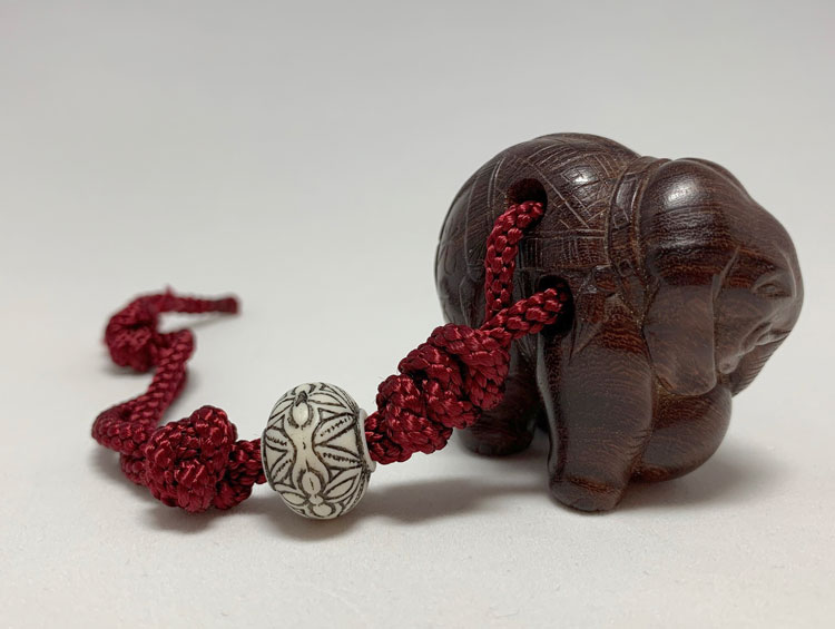 根付「象」  紅木 ■光斎