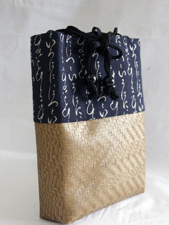 男性用巾着袋 メンズ 信玄袋(合切袋)【いろは】 ■小室久美子