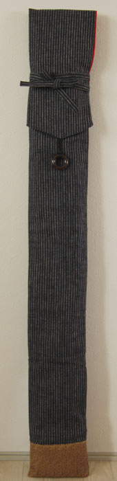 剣道 竹刀袋  剣道具竹刀袋 ■縞柄 (3本入り)(合皮・茶) ■ 小室久美子