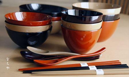 【名入れ】漆器 カスタムメイド カジュアル椀シリーズ紅白ライス椀 [純漆塗]【食洗器対応】(ペア 夫婦椀)■ なちや