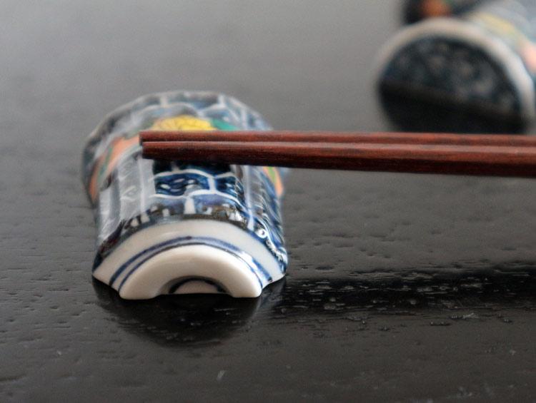 京焼清水焼 箸置き 祥瑞湯呑型(5客)■双楽窯