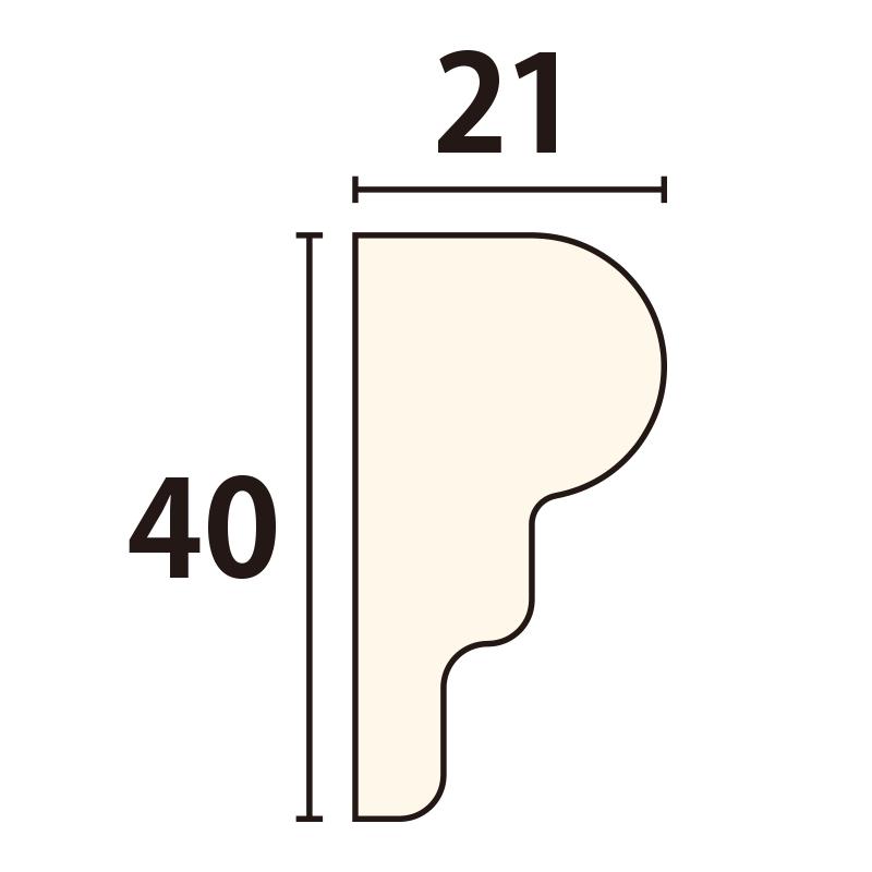 YR150D30:ユミアール D型 [40×21] 300×80mm (アユース)