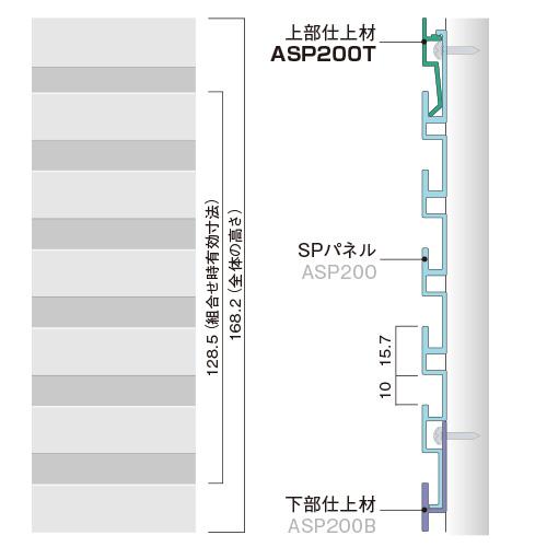 ASP200TPW:SPシステムパネル 機能パネル上部仕上材 (ホワイト色)