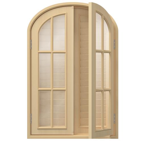 UM13:トップオーバル窓 H1200×W800×D160×T30mm (天然木製)