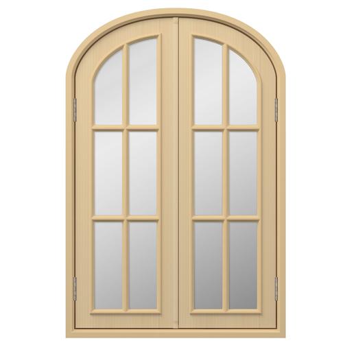 UM12:トップオーバル窓 H1200×W800×D160×T30mm (天然木製)