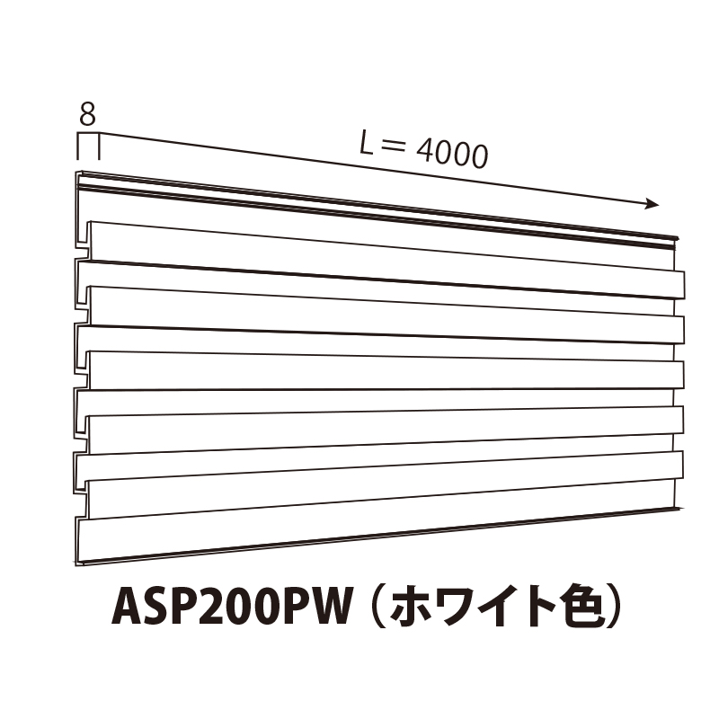 ASP200PW:SPシステムパネル 機能パネル (ホワイト色)