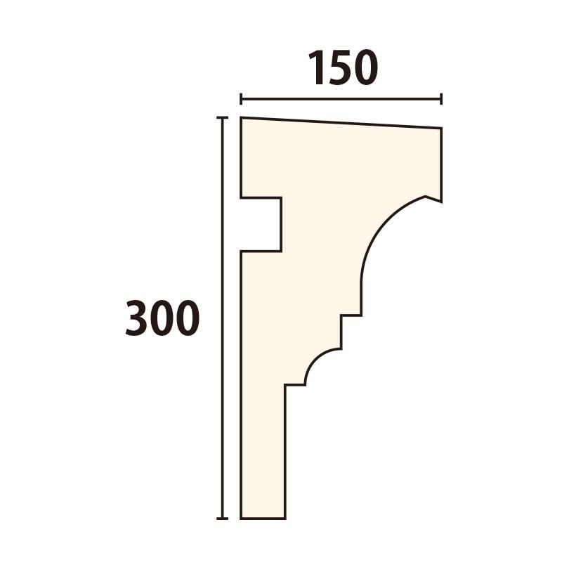SLE204:サンライトモール [3000×150] 1980mm 無塗装品(EPS)