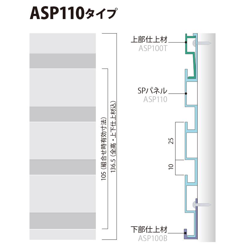 ASP110PW:SPシステムパネル 機能パネル (ホワイト色)