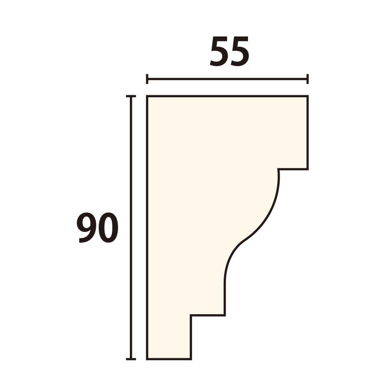 SLA101:サンライトモール [90×55] 1980mm (発泡スチロール)