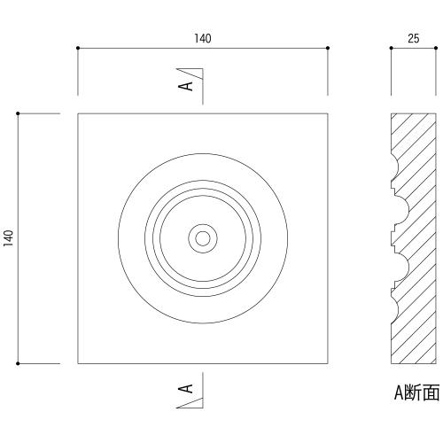 ABL23WCO:早技サンメント 140×140×25mm (ブロック材)