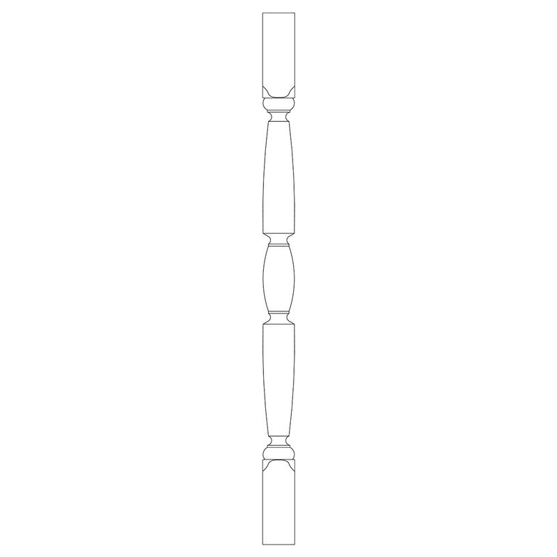 PS160407AY:木製サンピューラ/子柱 45×45×750mm (アユース)