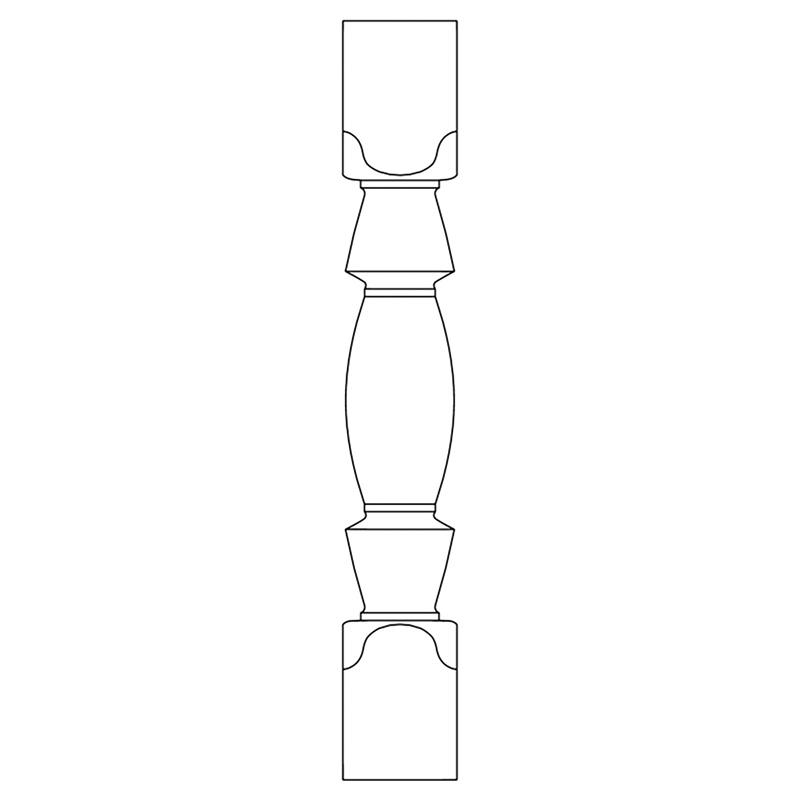 PS160403AY:木製サンピューラ/子柱 45×45×300mm (アユース)