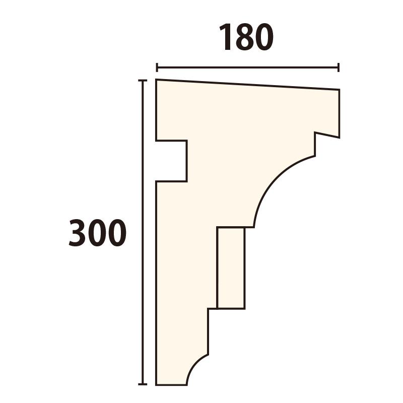 SLE402:サンライトモール [300×180] 1980mm (発泡スチロール)