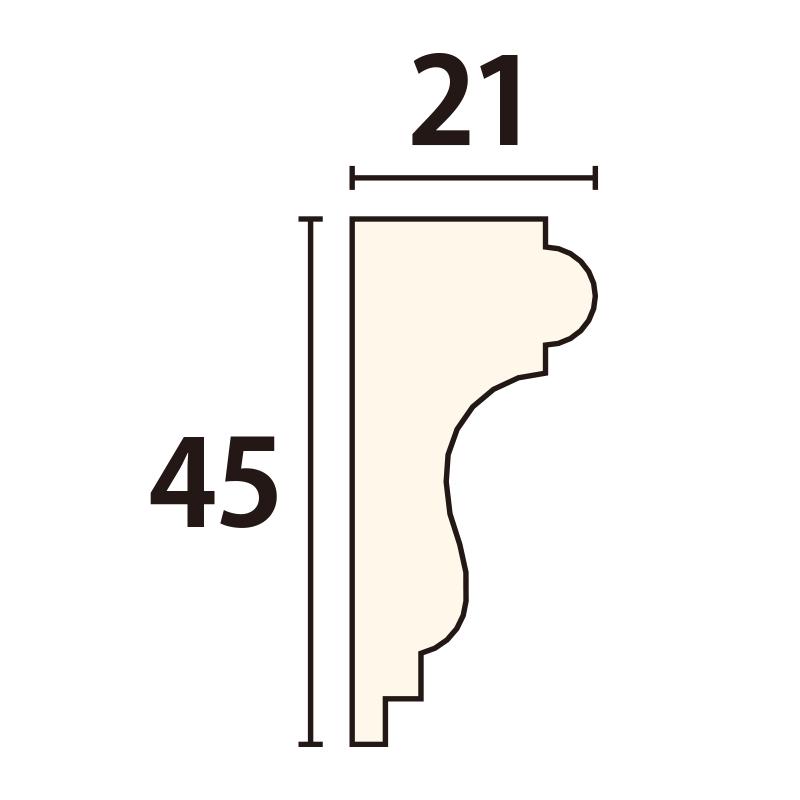 YR181C120:ユミアール C型 [45×21]1200×170mm(アユース)