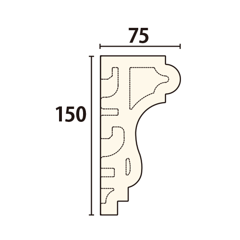 EXE5179ECR:サンメントセラEXE [150×75] 120mm (不燃材)
