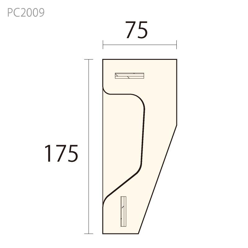 PC2009:パワーセラ [175×75] 150mm (ガラス繊維強化石膏)