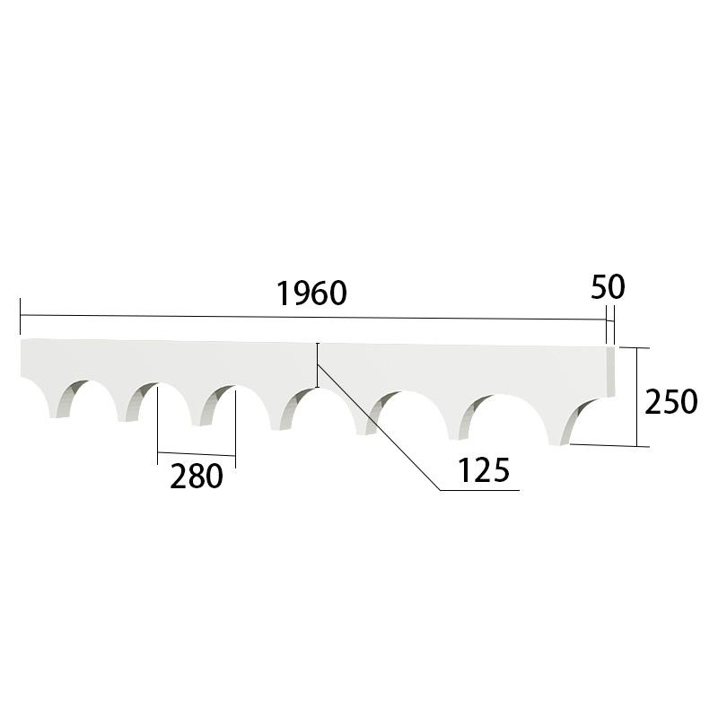SLC71F:サンライトモール 250×1960mm T=50mm (フォームライト仕上げ/発泡スチロール)