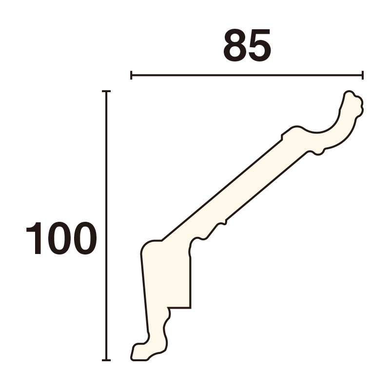 CY100BG:パレモ [100×85]3600mm(ゴールド)