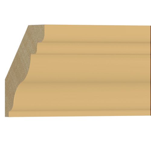 10%割引アウトレット モールディング 木製/表面シートラッピング 廻り縁 ビーチ杢色 129×128×3600mm [NRWR458B]