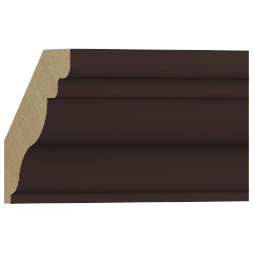 10%割引アウトレット モールディング 木製/表面シートラッピング 廻り縁 ディープオーク色 129×128×3600mm [NRWR458G]