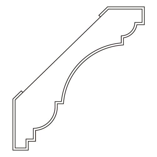 10%割引アウトレット モールディング 木製/表面シートラッピング 廻り縁 ブラウンオーク色 100×90×3600mm [NRWR465F]