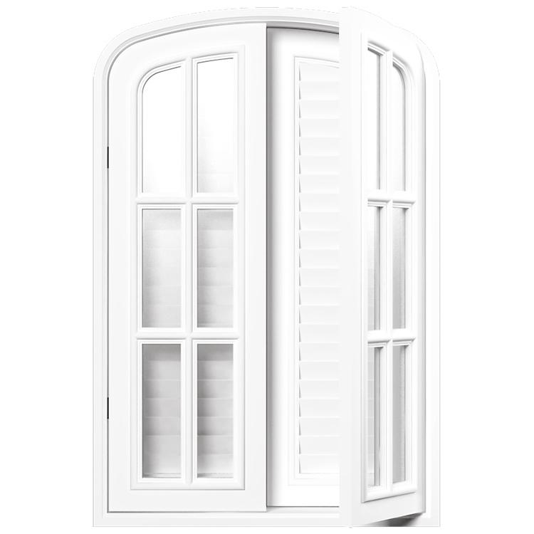 【NWD04WH】 ハーフオーバル窓 白色塗装 ※受注生産品