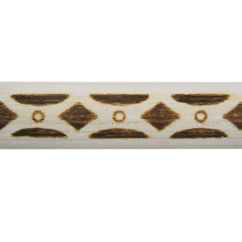モールディング 天然木製 焼き模様 11×4×2100mm サンスライト 天然木製 NSLM002S。