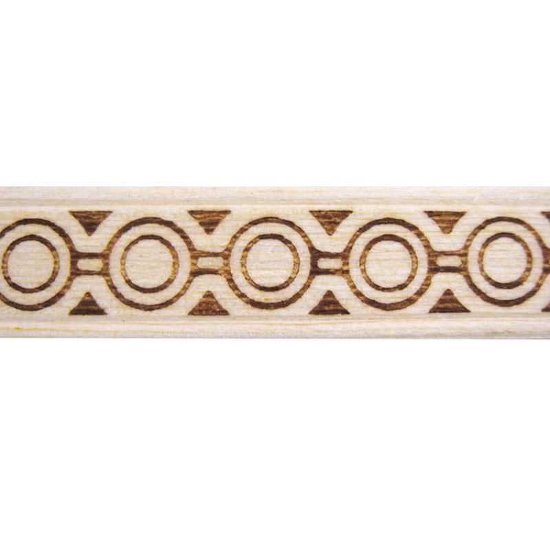 モールディング 天然木製 焼き模様 11×2×2100mm サンスライト 天然木製NSLM005S 。