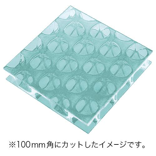 60%割引 ポリカーボネイトパネル エメラルドブルー半透明・艶あり UV加工 3020×1000×19mm [NCB3019GR] ※アウトレット在庫限り