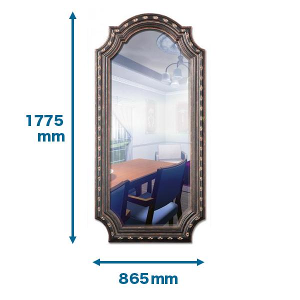 NMG716|インテリアウォールミラー(全身鏡・姿見) 1775×865×55mm ※送料別途見積 。
