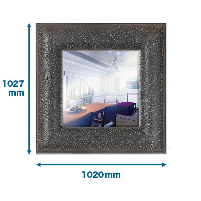 NMG727|インテリアウォールミラー 1027×1020×80mm ※送料別途見積 。