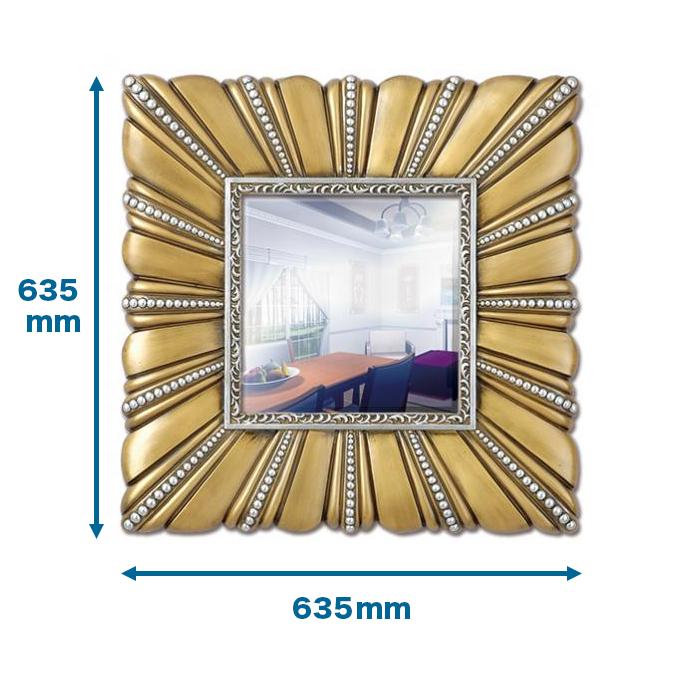 NMG735 インテリアウォールミラー 635×635×54mm  。