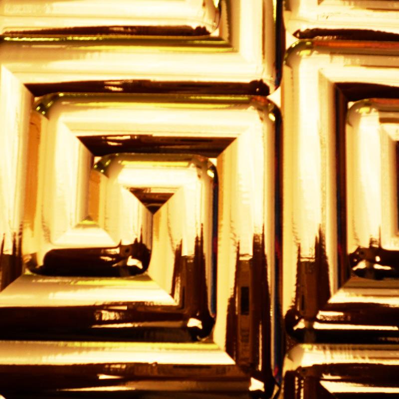 【NDCB009GL】壁面装飾パネル ABS樹脂製 サンプロント ゴールド 裏面シール有り 3000×1200mm